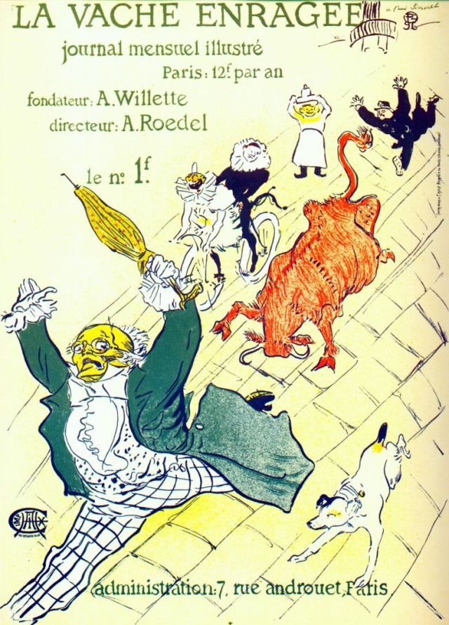 Lautrec_la_vache_enragée_(the_mad_cow)_1896